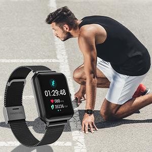 Smart watch fitness tracker step counter