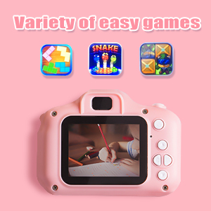 Camera Waterproof Action Video Digital Camera 1080 HD Camcorder for Boys Toys Gifts Build-in Game