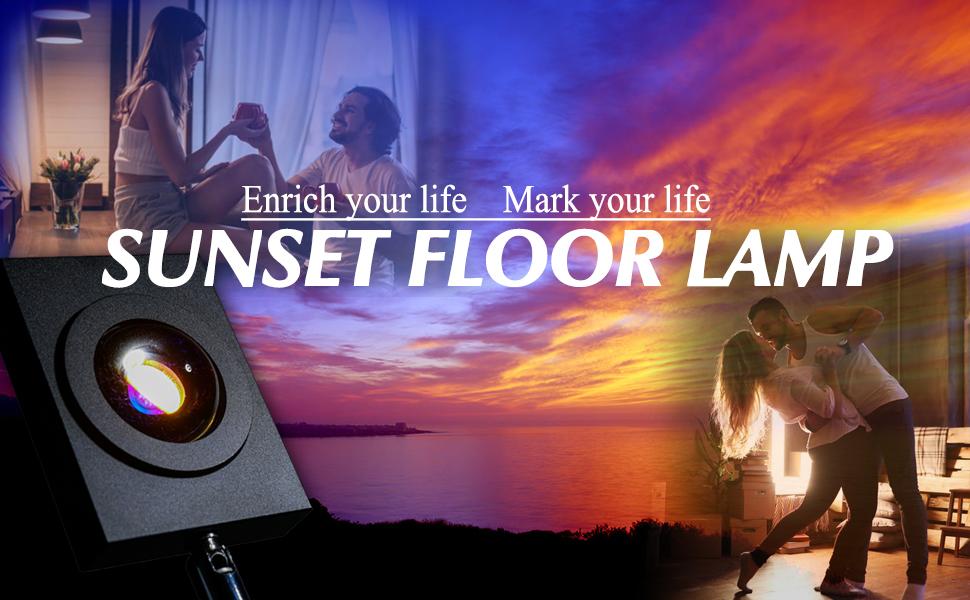 Sunset Projection Led Light Lamp Rainbow Floor Stand Romantic Lamp Night Light