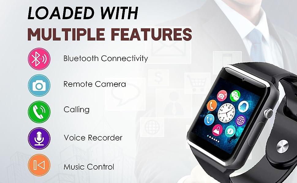 TIRUMI A1 Bluetooth Smart Watch