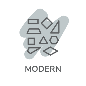 Modern with abstract icon