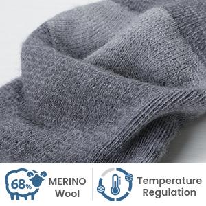 68% merino wool