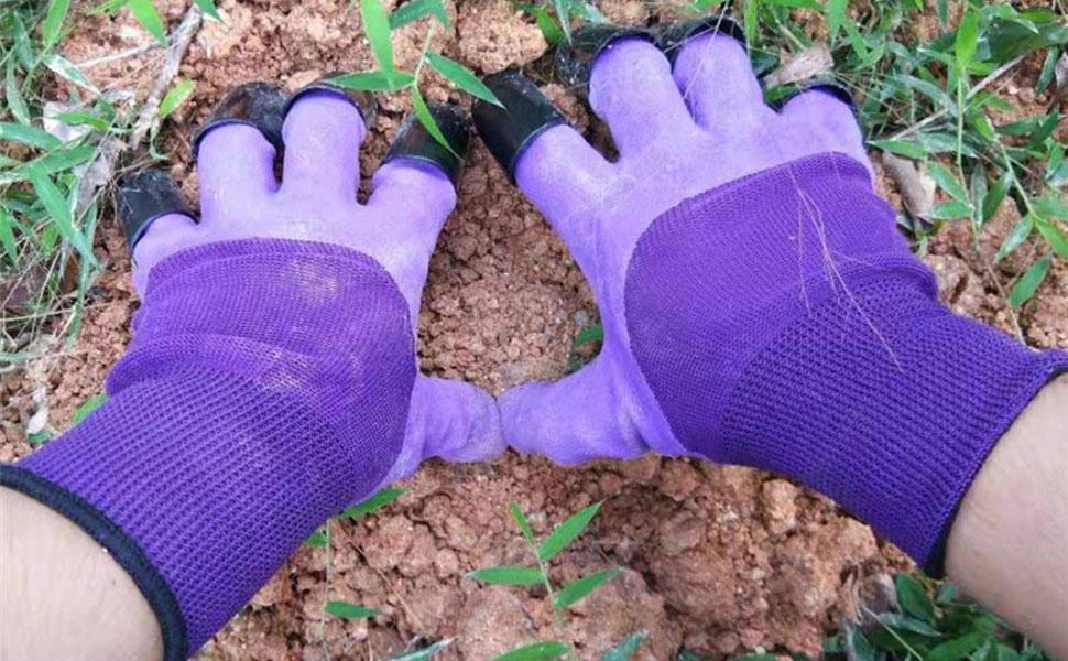 Purple genie claw gloves