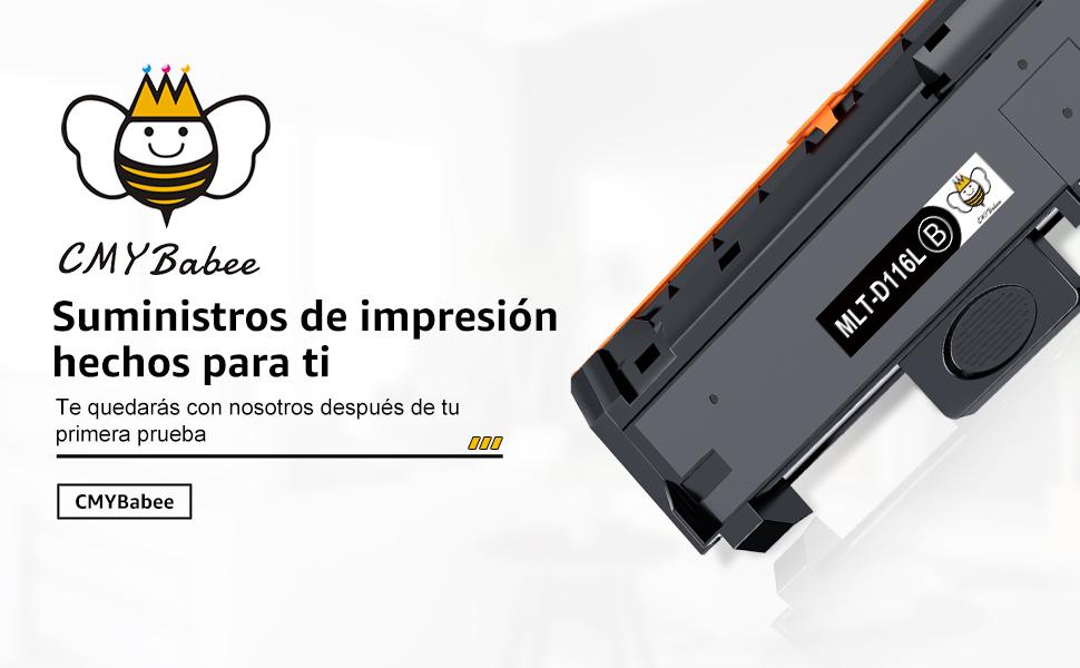 CMYBabee Reemplazo de Cartucho de Toner Compatible para Samsung MLT-D116L D116S para Samsung Xpress M2675FN M2625D M2835DW M2875FW M2885FW M2675FD ...