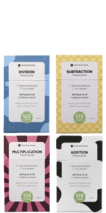 Think Tank Scholar Addition Subtraction Multiplication Division Flash Cards Bundle