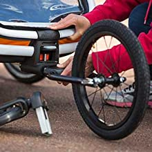 Hamax Outback - Hamax Outback Reclining Multi-Sport Child Bike Trailer + Stroller - 2020 Model (Jogger Wheel Sold Separately) (Navy/White, One Seat)