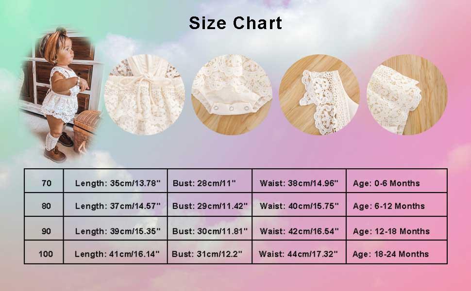 size chart 0-6 months