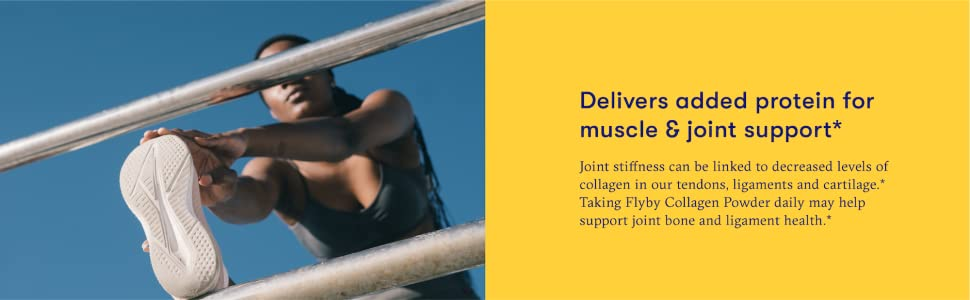Flyby collagen powder adds protein for muscle & joint support