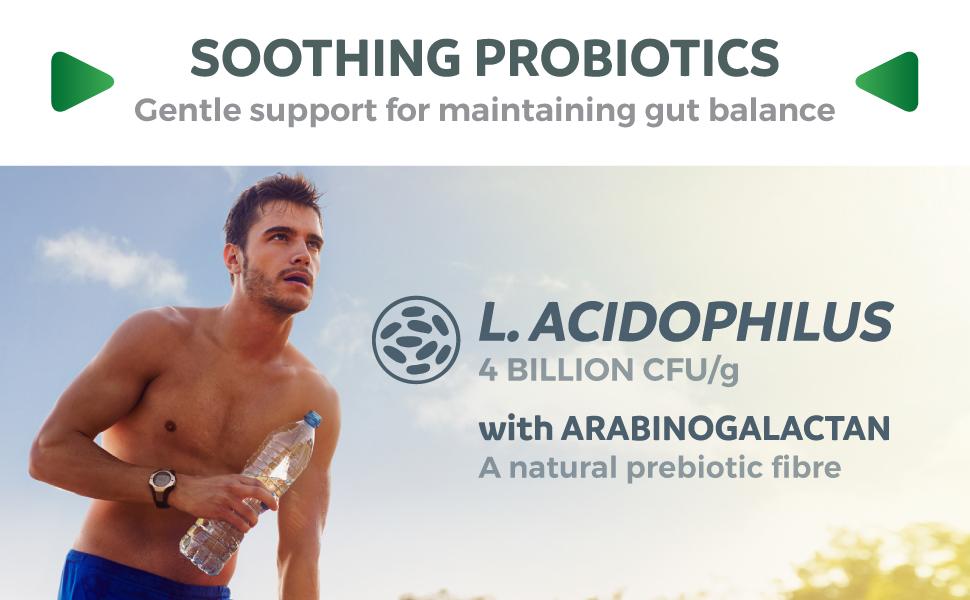 Probiotic & prebiotic supplement - lactobacillus acidophilus with arabinogalactan - non gmo