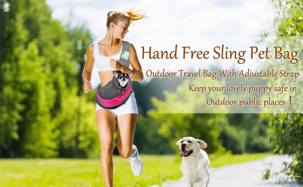 Dog Carrier Sling Front Pack Puppy Carrier Purse Breathable Mesh Travel for Small or Medium Pet Dogs