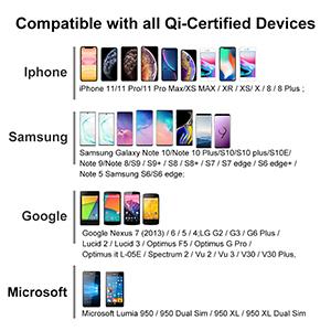 Tương thích với các thiết bị được chứng nhận Qi