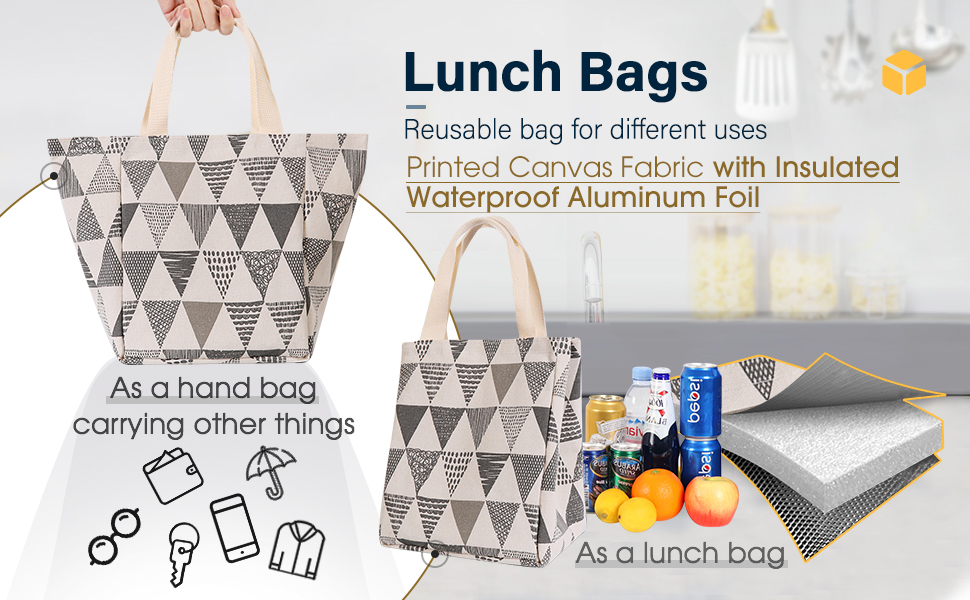 super multi-functional lunch bag with hand made appliqu\u00e9 Felt tote