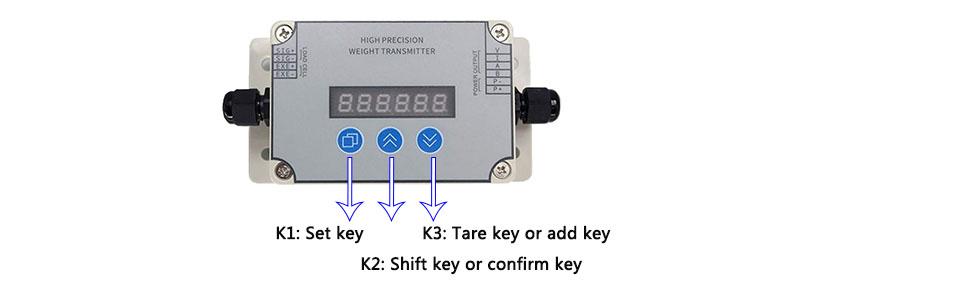 ATO Digital Load Cell Amplifier Key Instruction