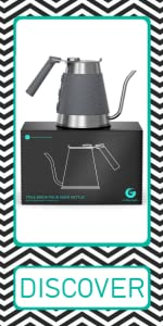 Coffee Gator True Brew Pour Over coffee Kettle with Gooseneck Spout