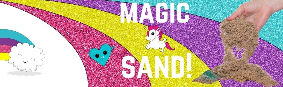 Kinetic Sand, Magic Sand, Play Sand gifts for girls age 4 5 6 7 8 9 10 11