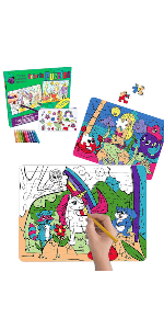 puzzle set, puzzle kit, arts and crafts, gift for girls, gift for kids,pencil case, stocking stuffer