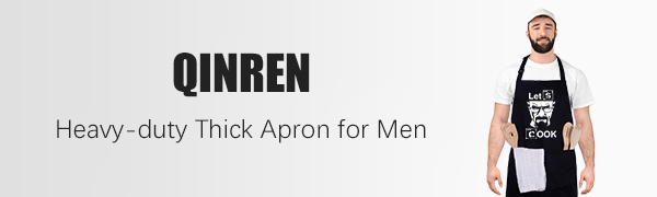 QINREN heavy-duty thick apron men