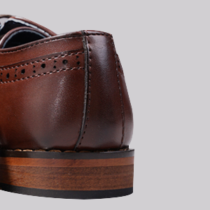 Wooden heel-for more stability and durability in a long walk;