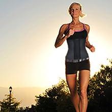 waist trainer running