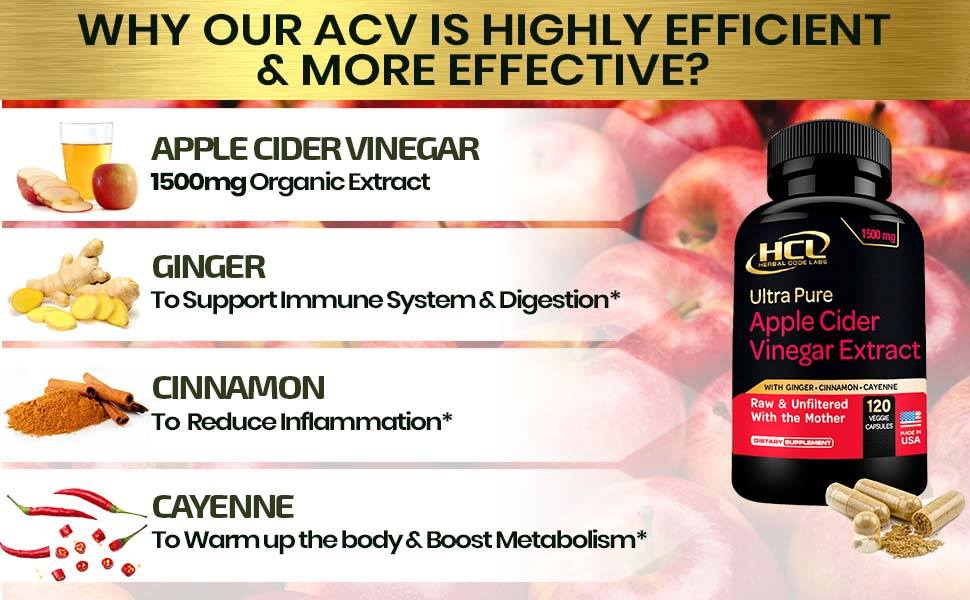acv apple cider vineger supplement capsules pills hcl herbal code labs turmeric spirulina boswellia