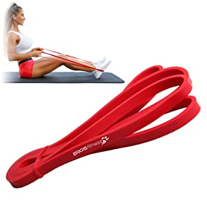 red and black resistance bands portable exercise elastic loop workout training heavy men women physo