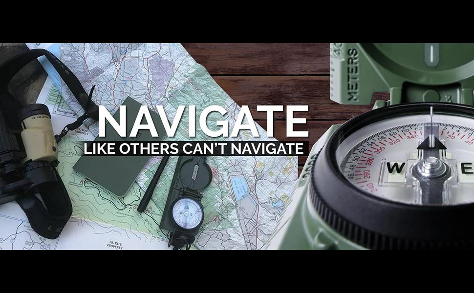 Navigation orienteering compass military Lensatic compass tritium