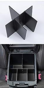 Tacoma armrest divider organizer