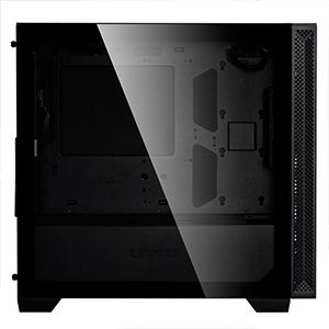 tempered glass side panel to show your system RBG