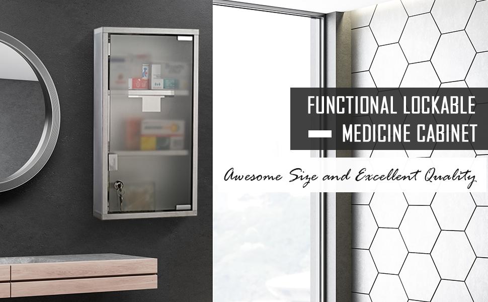 Lackable medcine cabinet