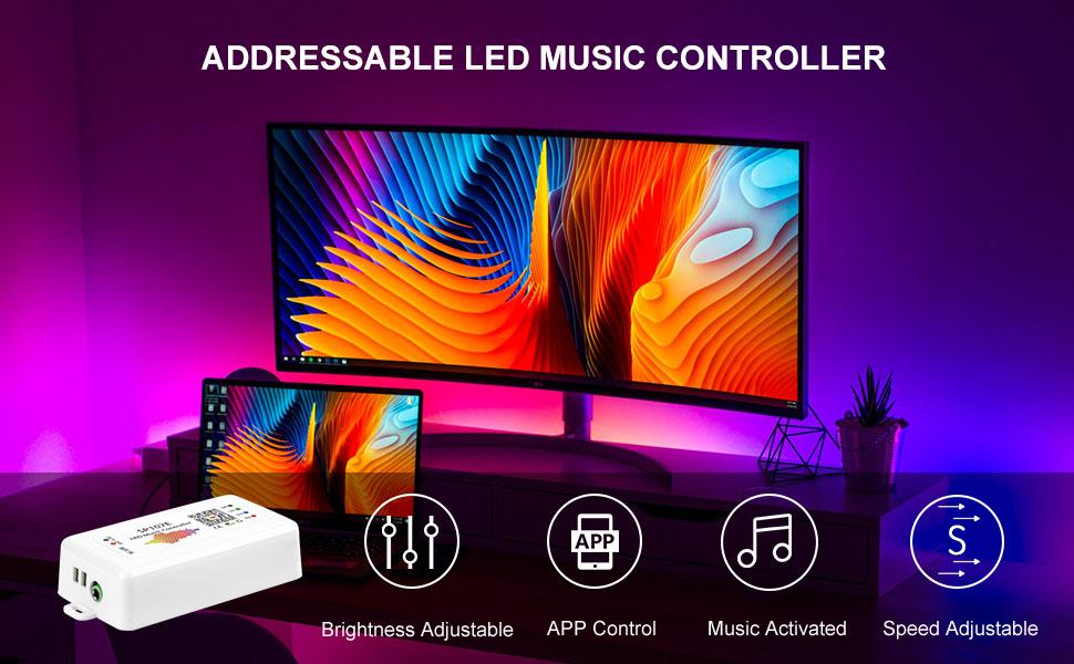"""/""""10X 5V WS2812B WS2812 WS2811 5050 RGB weiß Chip-LED LED-Modul Pixel Licht/"""" DL"""