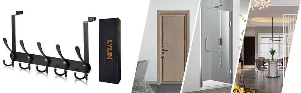 deurhaak, deurhaak voor de achterkant, deurgarderobe, kledinghaak deur, deurhaaklijst binnenzijde