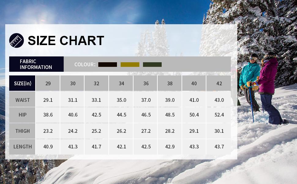 Men's Fleece Linning Hiking Pants Soft Shell Waterproof Winter Ski Snow Pants for Men