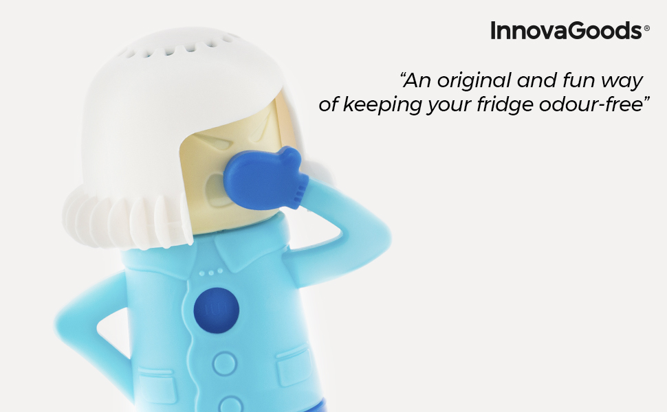 InnovaGoods | Desodorizante para neveras | Elimina olores | Azul ...
