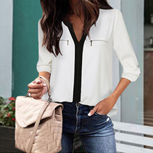 white summer blouses for work