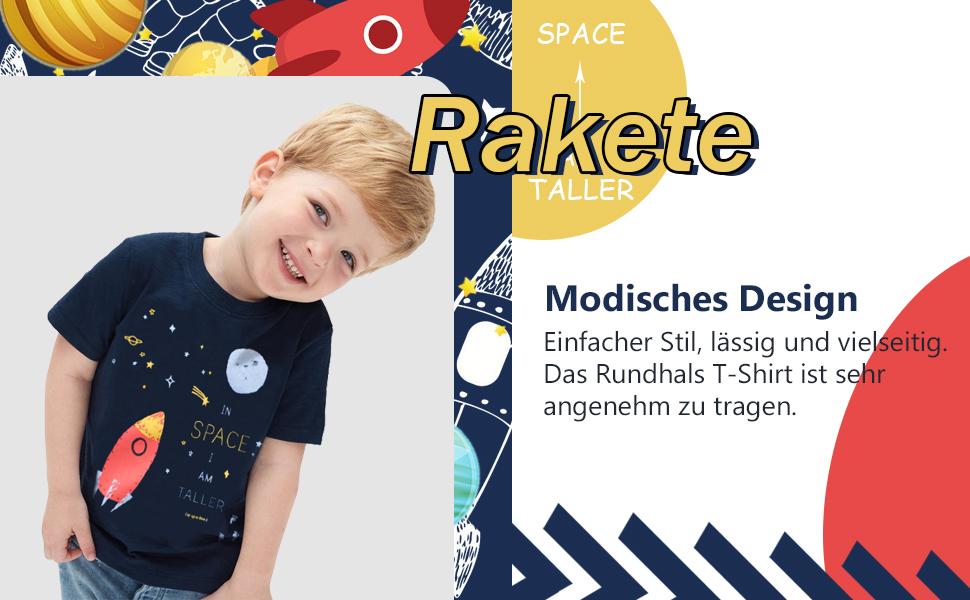 2-7 ans Garçons à manches courtes coloré Dinosaure Fashion Summer T-Shirt