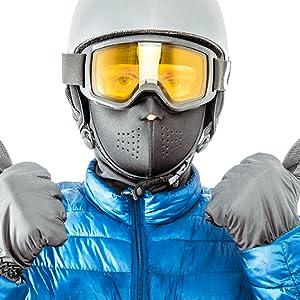 Man in ski mask and ski googles