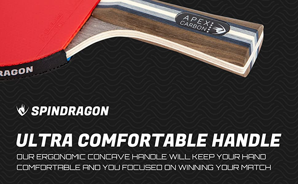 Spindragon Apex Carbon - Ultra Comfortable Handle