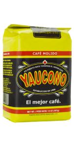 ground 14 ounce bag coffee medium roast puerto rico yaucono