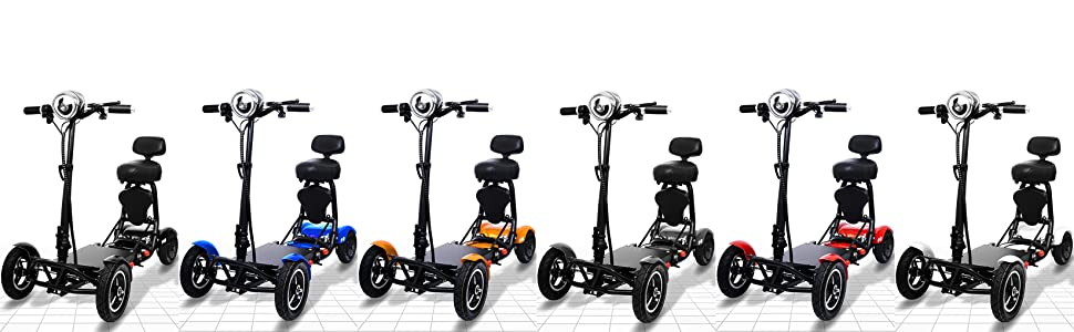 Gold, Silver, Red, White Mobility Scooter