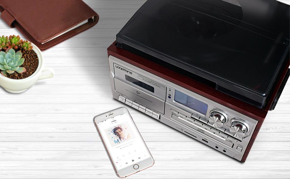 Bluetooth record player