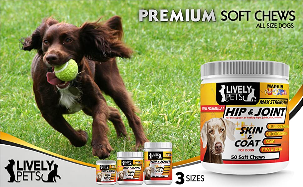 Lively Pets Hip & Joint plus Skin & Coat support for dogs