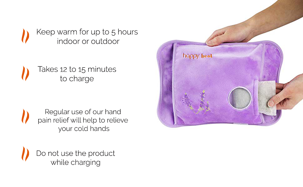 Happy Heat electric hand warmer  Electric Rechargeable Heating Pads Pain Relief Lavender Hand Warmer