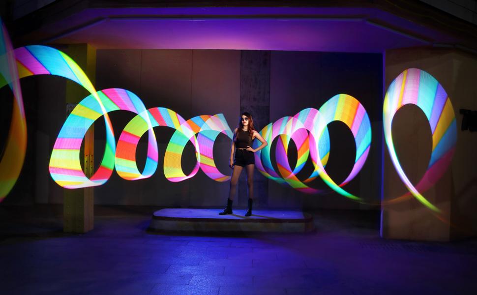 Godox Lc500r Rgb Led Leuchtstab 2500k 8500k Einstellbar 360 Vollfarbe 14 Fx Lichteffekte Cri96 Tlci98 Genaue Farbe 0 100 Dimmbar Kreativer Musikmodus Mit Fernbedienung Und Barndoor Beleuchtung