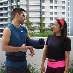 running jogging zippered pocket traveling fanny waist pack hiking belt yoga walking sport waterproof