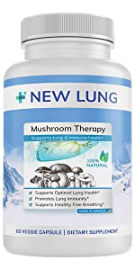 Mushroom lung health supplement