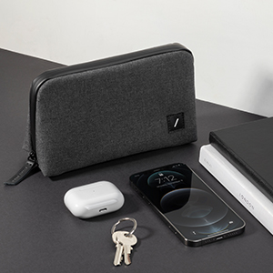 Stow Lite Organizer Minimalist Travel Pouch Accessory Storage Cables Chargers pockets zipper