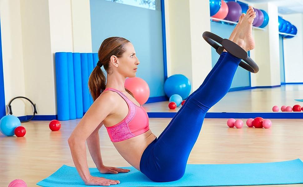 Yoga Ring Magic Ring waysad Pilates Circle Widerstandsring Loop F/ür Core-Training Pilates Ring Yoga Pilates Ring Fitnessger/ät Upgrade
