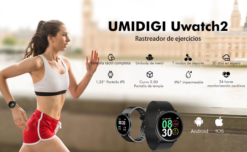 UMIDIGI Reloj Inteligente Pulsera Actividad con Pulsómetro Mujer ...