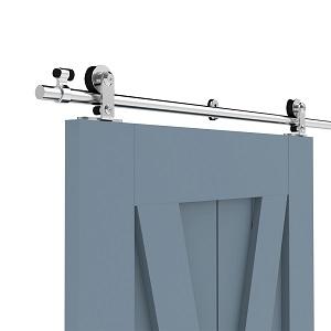 365CM/12FT Herraje para Puerta Corredera Acero Inoxidable Kit de Accesorios, Guia Riel Puertas Correderas, Forma T Puerta doble: Amazon.es: Bricolaje y herramientas