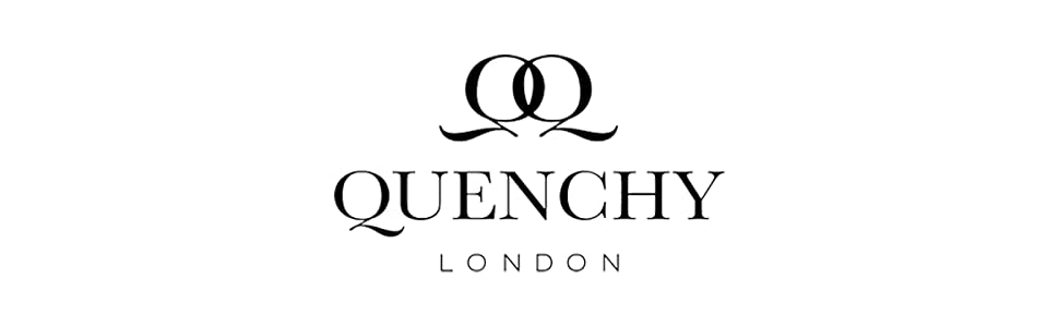Quenchy London Plain Banner Logo Real Leather Womens Handbag For ladies